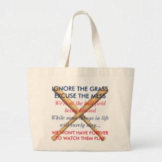 Bolso De Tela Gigante Ignore la hierba. Excuse el lío. Mamáes del
