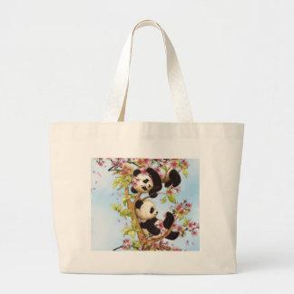 Bolso De Tela Gigante IMG_7386.PNG lindo y panda colorida diseñada