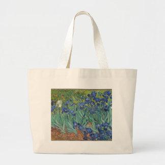 Bolso De Tela Gigante Iris de Vincent van Gogh que pintan el trabajo de