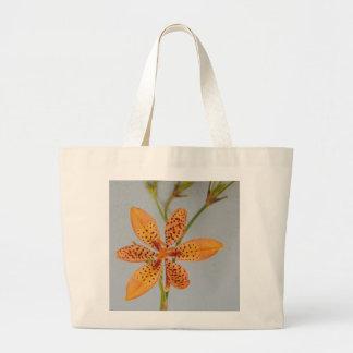 Bolso De Tela Gigante Iris manchado naranja llamado un lirio de