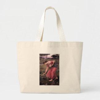 Bolso De Tela Gigante John William Waterhouse - narciso - bella arte