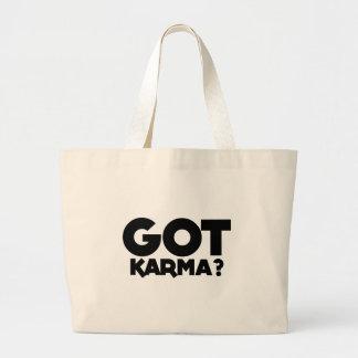 Bolso De Tela Gigante Karmas conseguidas, palabras del texto