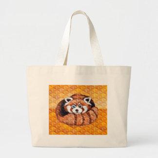 Bolso De Tela Gigante La panda roja refiere cubismo anaranjado