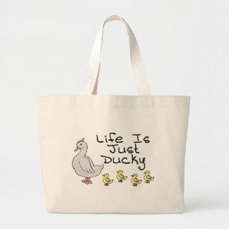 Bolso De Tela Gigante La vida es Ducky