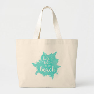 Bolso De Tela Gigante La vida es mejor en la playa