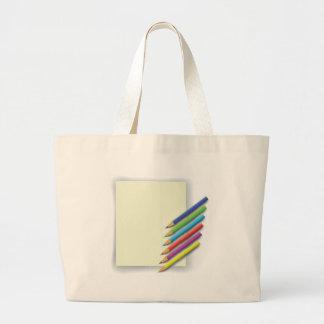 Bolso De Tela Gigante lápices coloridos