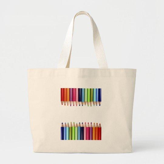 Bolso De Tela Gigante Lápices de Colores
