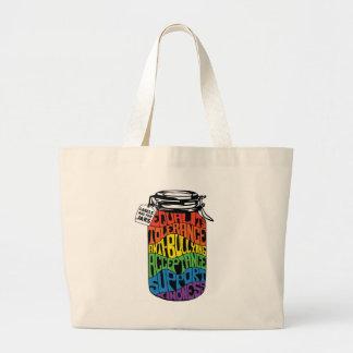 Bolso De Tela Gigante Las etiquetas están para la camisa de la igualdad