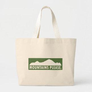 Bolso De Tela Gigante Las montañas satisfacen