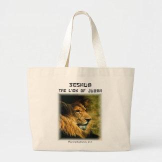 Bolso De Tela Gigante León de Yeshua del tote de Judah