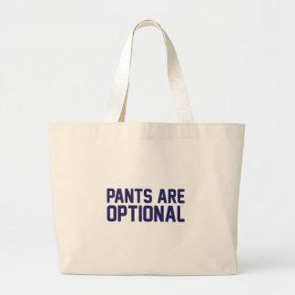 Bolso De Tela Gigante Los pantalones son opcionales