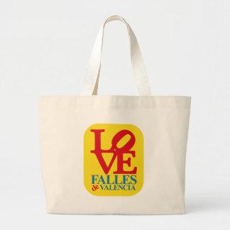 BOLSO DE TELA GIGANTE LOVE FALLES YELLOW STAMP