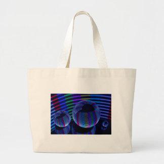 Bolso De Tela Gigante Luces espirales en el cristal