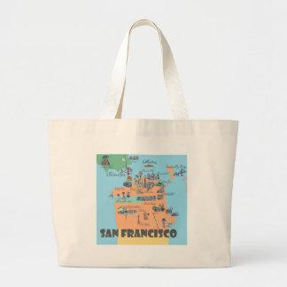 Bolso De Tela Gigante Mapa de San Francisco California