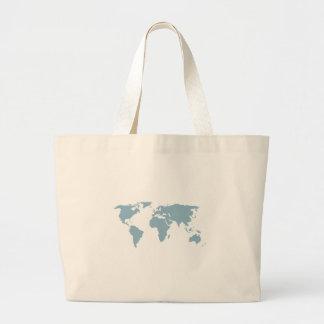 Bolso De Tela Gigante Mapa del mundo