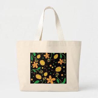 Bolso De Tela Gigante Mariquitas y flores 3