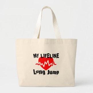 Bolso De Tela Gigante Mi línea de vida salto de longitud se divierte