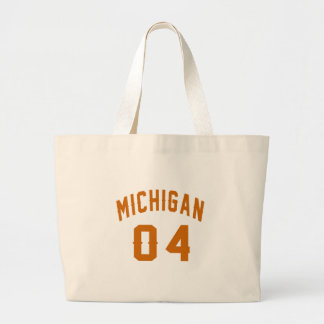 Bolso De Tela Gigante Michigan 04 diseños del cumpleaños