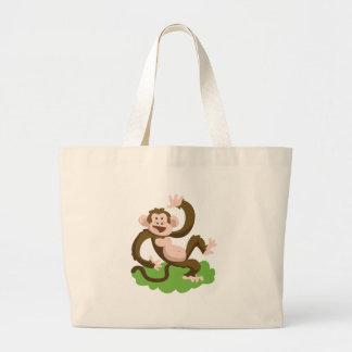 Bolso De Tela Gigante mono del baile