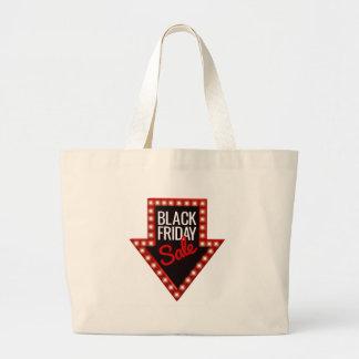 Bolso De Tela Gigante Muestra negra de la flecha de la venta de viernes