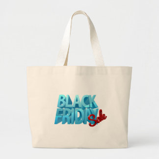 Bolso De Tela Gigante Muestra negra de la venta 3D de viernes