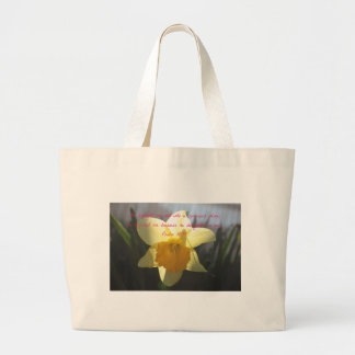 Bolso De Tela Gigante Narciso del amarillo del 18:19 del salmo