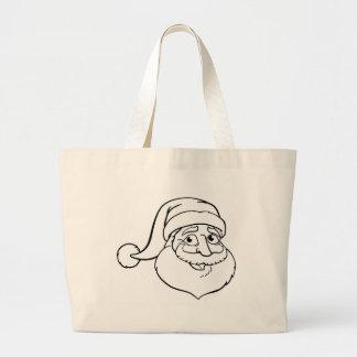 Bolso De Tela Gigante Navidad Papá Noel del dibujo animado