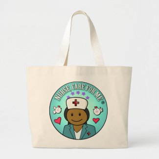 Bolso De Tela Gigante Nurse Gifts Nurse Care For Me Black Blue