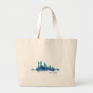 Bolso De Tela Gigante NYC New York Skyline v5