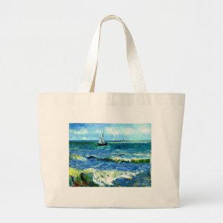 Bolso De Tela Gigante Paisaje marino en Saintes-Maries, Vincent van Gogh
