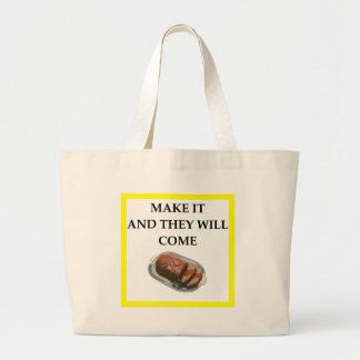 Bolso De Tela Gigante pan con carne