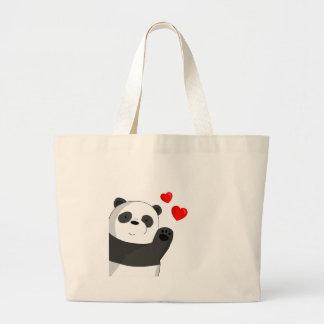 Bolso De Tela Gigante Panda linda