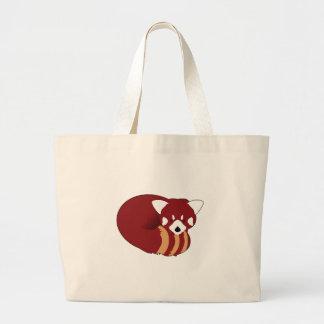 Bolso De Tela Gigante Panda roja