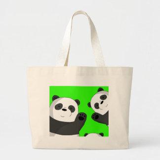 Bolso De Tela Gigante Pandas lindas