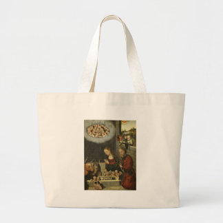 Bolso De Tela Gigante Pastores que adoran al bebé Jesús por Cranach