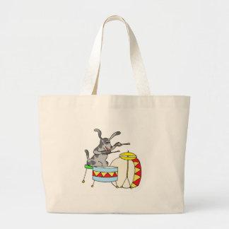 Bolso De Tela Gigante Perro musical que juega los tambores