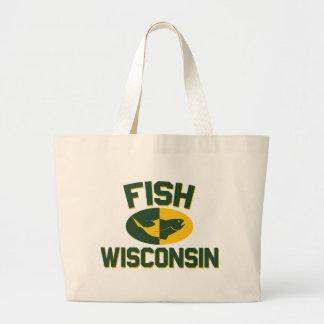 Bolso De Tela Gigante Pescados Wisconsin