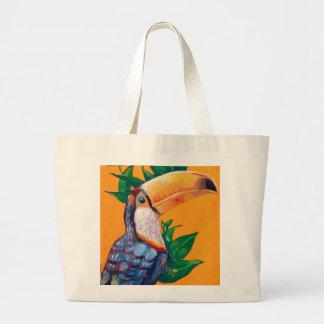 Bolso De Tela Gigante Pintura hermosa del pájaro de Toucan