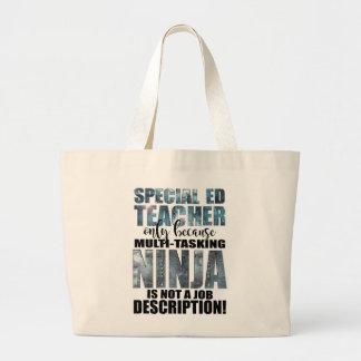 Bolso De Tela Gigante Profesor estupendo de Ninja de la educación