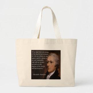 """Bolso De Tela Gigante Regalo del """"líder enemigo"""" de Alexander Hamilton"""