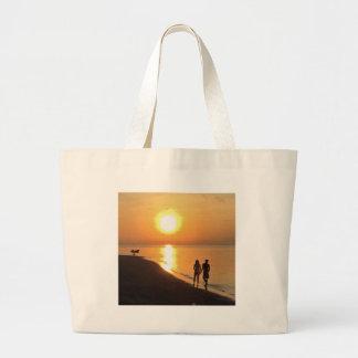 Bolso De Tela Gigante Salida del sol de Bali en la playa