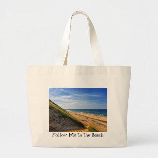 Bolso De Tela Gigante Sígame al tote de la extra grande de la playa