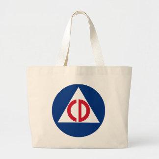 Bolso De Tela Gigante Símbolo del vintage del logotipo de la defensa