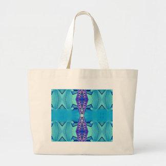Bolso De Tela Gigante Sombras modernas vibrantes de la púrpura azul