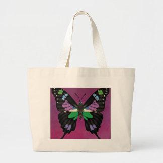 Bolso De Tela Gigante Swallowtail manchado púrpura