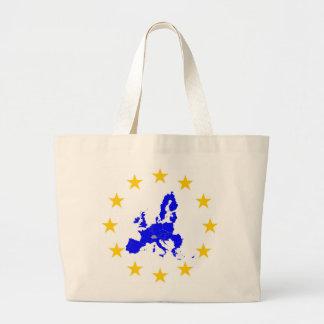 Bolso De Tela Gigante Tarjeta de la unión Europea con círculo de
