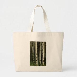 Bolso De Tela Gigante Textura de un retrato del bosque