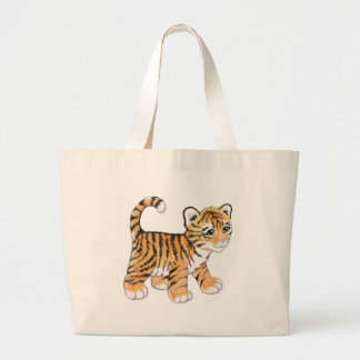 Bolso De Tela Gigante Tigre Cub