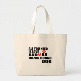 Bolso De Tela Gigante Todos usted necesita diseños de los perros de caza