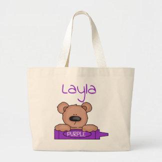 Bolso De Tela Gigante Tote de Teddybear de Layla